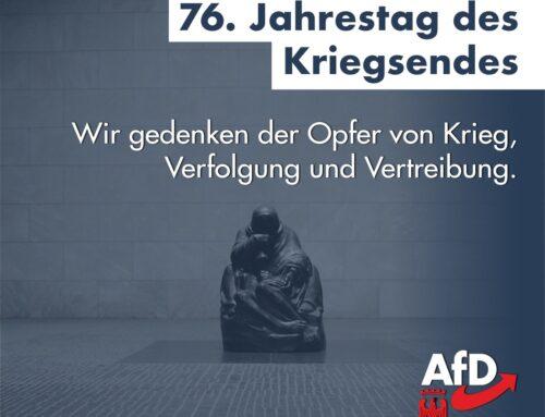 Erinnerung an das Ende des 2. Weltkriegs vor 76 Jahren.