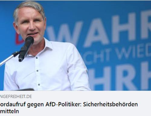 Mordaufruf gegen AfD-Politiker